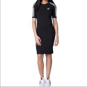 Adidas Originals 3-Stripes Cotton Dress Black